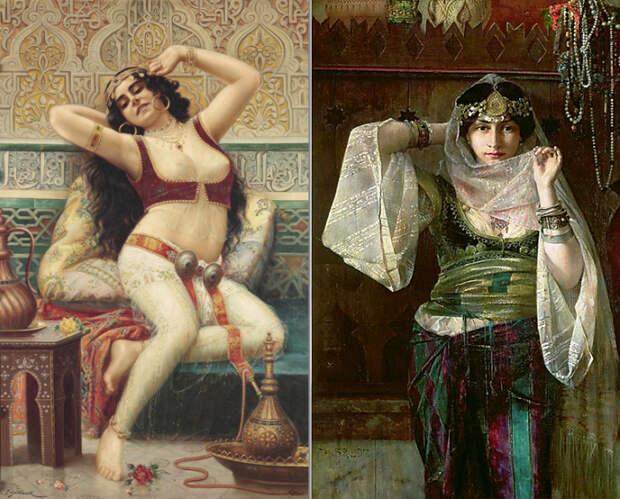 Живопись. Роскошные женщины Востока.