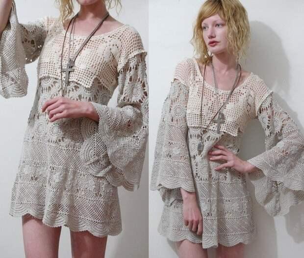 Платья из антикварного кружева (подборка)
