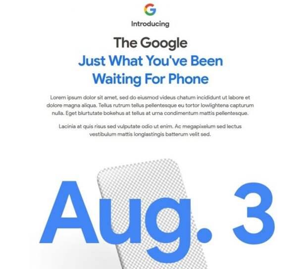 3 августа состоится премьера долгожданного Pixel 4a