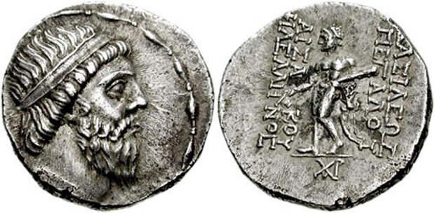 Drachma of Mithridates I of Parthia,