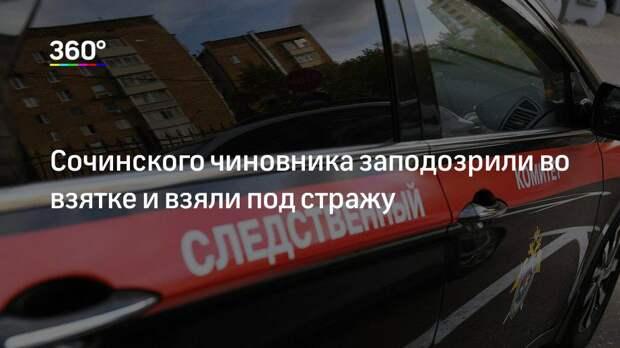 Сочинского чиновника заподозрили во взятке и взяли под стражу