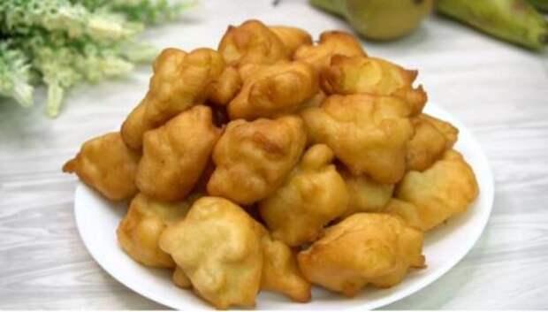 Яблочные пончики: трачу 15 минут (перемешиваю все ложкой и на сковороду). Делюсь рецептом