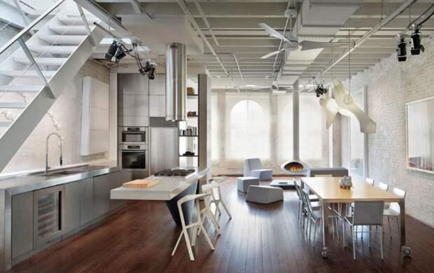 Кухня в стиле лофт в квартире: стильно и ничего лишнего (112 фото)
