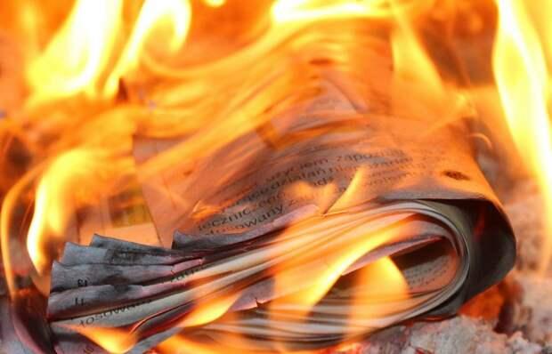В доме на Бескудниковском бульваре загорелась газета