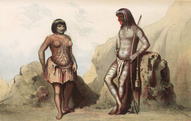 В плену у индейцев: тайна женщины с татуировкой на лице