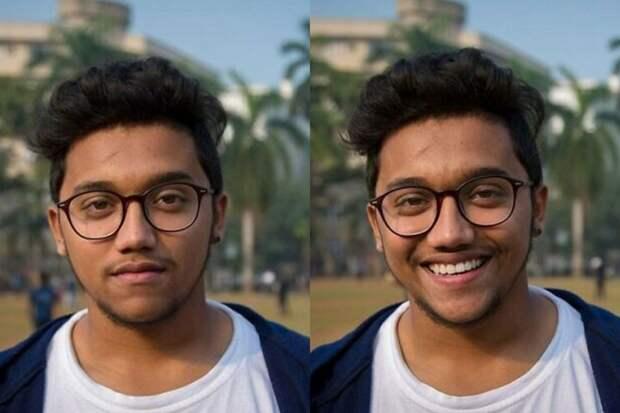 10+ портретов людей доипосле того, как фотограф попросил ихулыбнуться