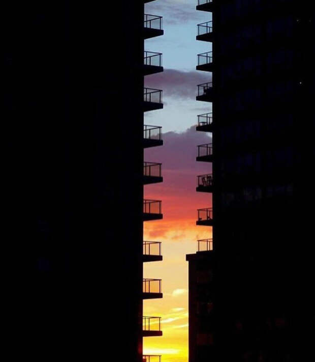 Фото идеального заката. | Фото: Pinterest.