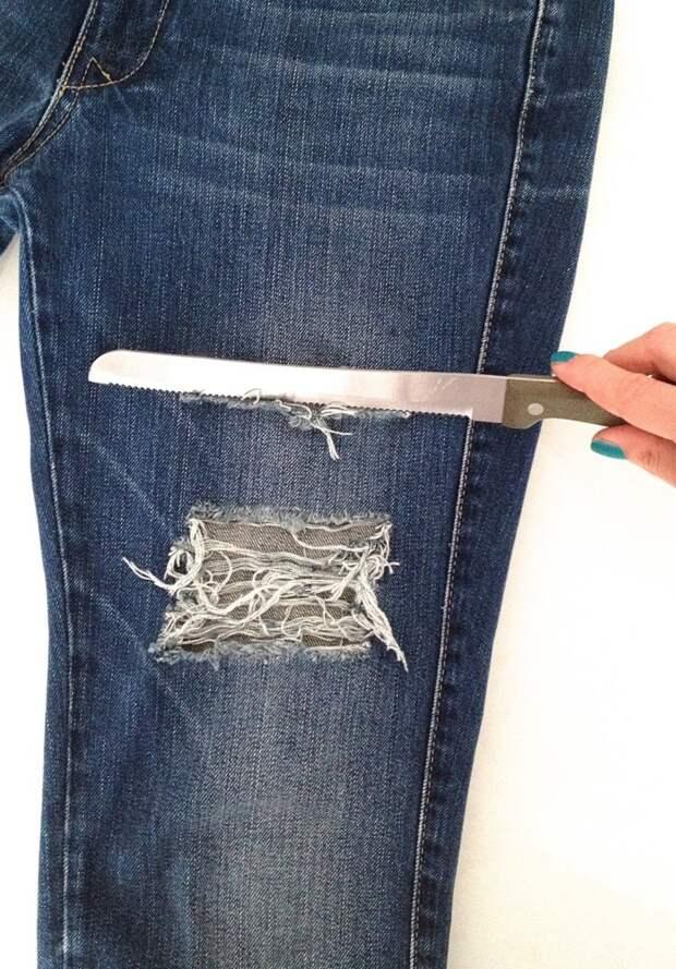 Полезные советы по приданию стильной красоты - рваные джинсы.