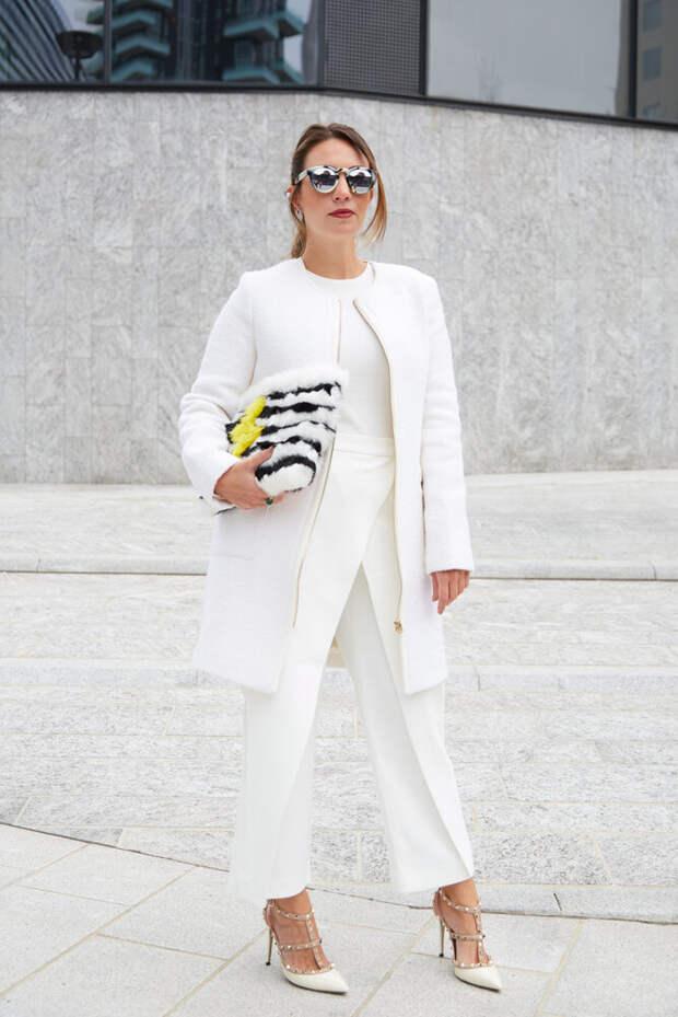 Белый не полнит, или Как стильно вписать белые брюки в свой гардероб
