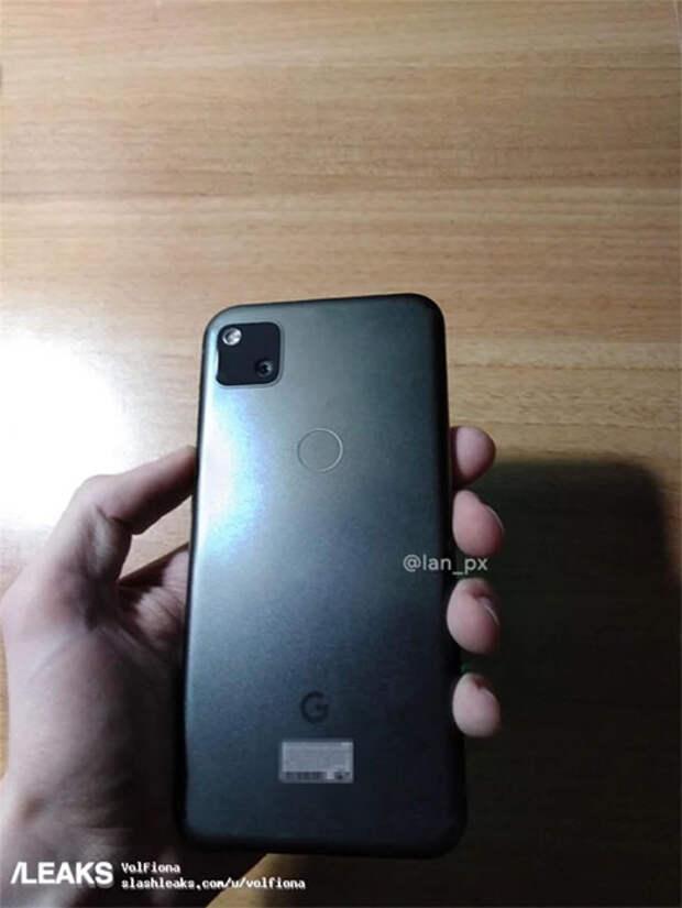 Недорогой и компактный Google Pixel 4a появился на «живых» фотографиях
