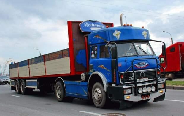 "Тюнинг советских грузовиков из ""лихих 1990-х"" 90-е, грузовик, дальнобойщики, тюнинг"