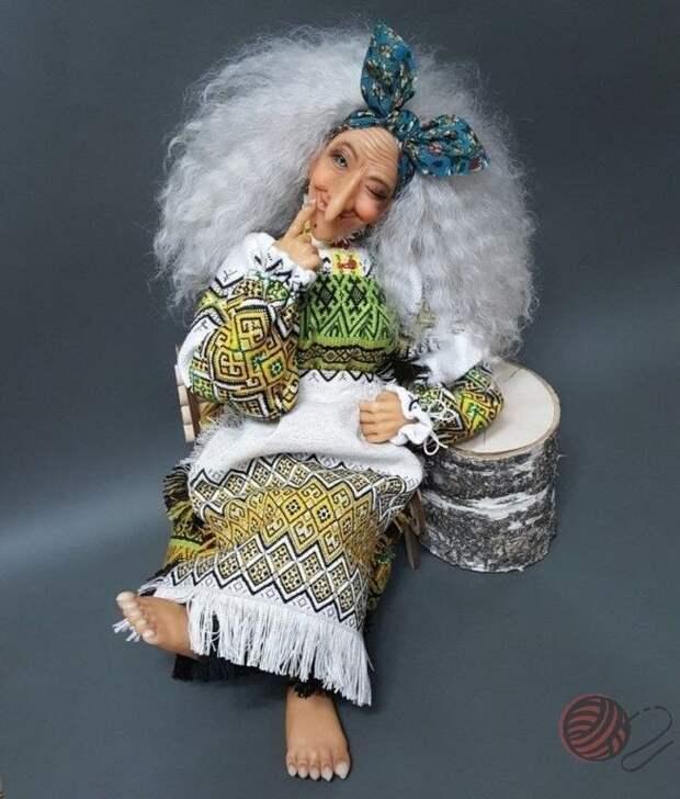 А Ягуся была в молодости чертовски хороша!. Интерьерная кукла.