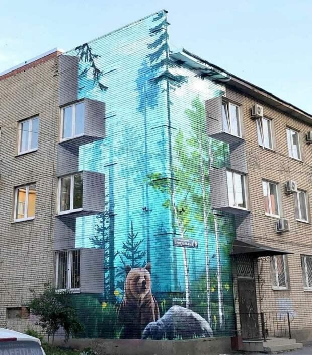 Крутой сибирский стрит арт