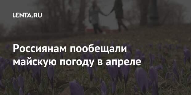 Россиянам пообещали майскую погоду в апреле