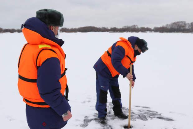 На водоёмах Рязанской области измерили толщину льда