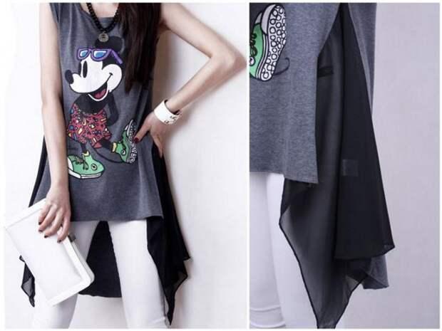 Креативные переделки простой футболки в стильную
