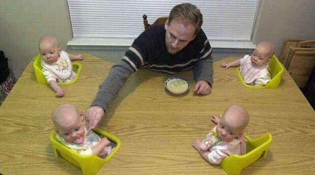 Многодетные родители самые изобретательные дети, крутые родители, фото, юмор