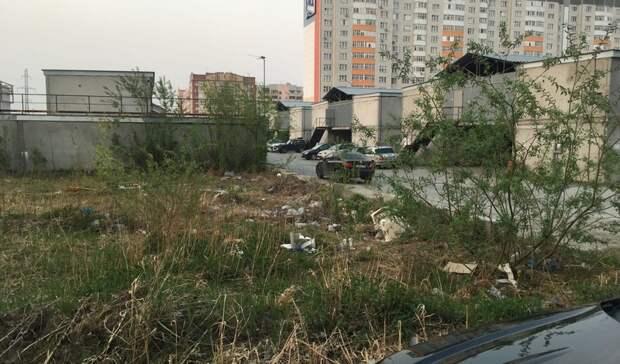 ВТюмени водворе улицы Монтажников газоны покрыл слой мусора