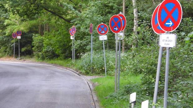 Безумие с дорожными знаками в Гамбурге: не заметит только слепой