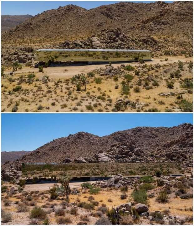 «Дом-невидимка», который полностью сливается с экзотическим ландшафтом