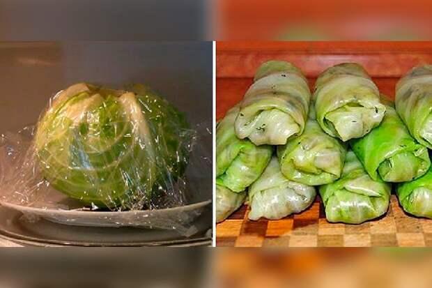 Как подготовить листья капусты для голубцов за 2 минуты