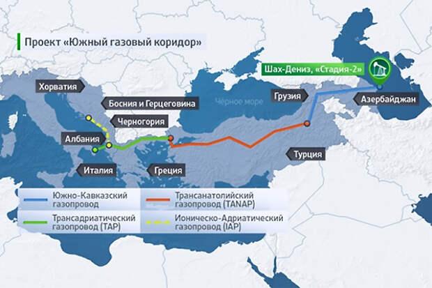 Экспорт азербайджанского газа в Европу будет мизерным