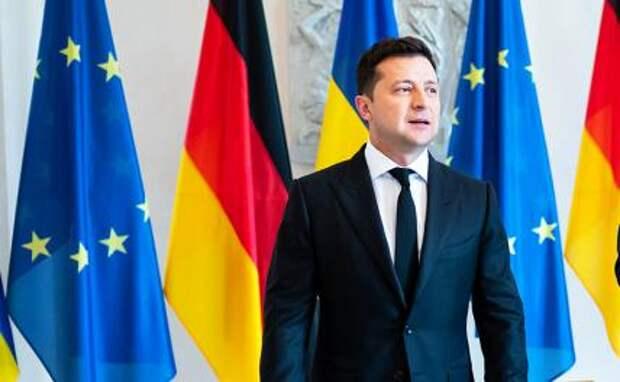 На фото: во время визита президента Украины Владимира Зеленского в Берлин
