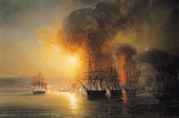 Битва при Веракрус (источник изображения - wikioo.org)