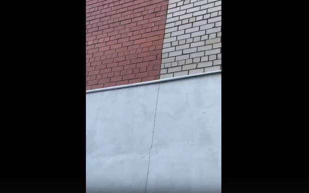 Рязанка сообщила о трещине на фасаде дома на улице Шевченко