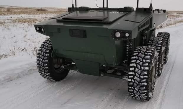 Автономные испытания боевого робота «Маркер» в зимних условиях прошли успешно