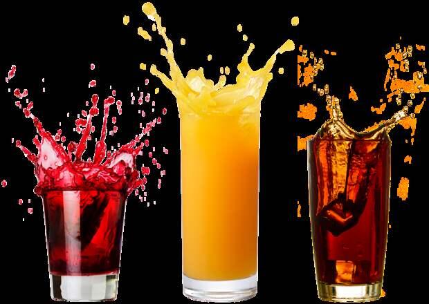 В газировке и пакетированных соках огромное количество сахара