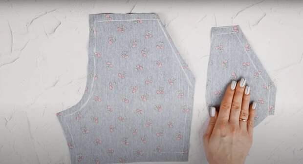 Простой способ сшить стильные шорты с завышенной талией и поясом