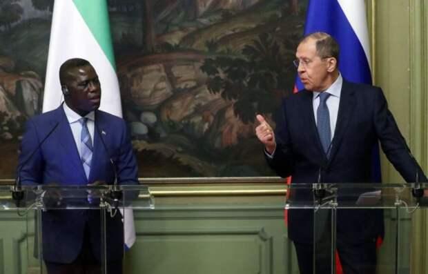 Лавров провёл переговоры со своим коллегой из Сьерра-Леоне
