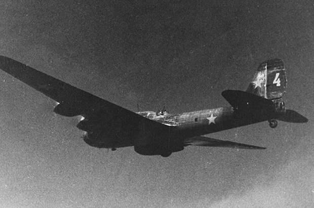 Советский бомбардировщик, принимавший участие в налётах на Берлин в начале войны.
