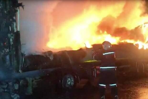 В Новороссийске пожар оставил без света несколько районов