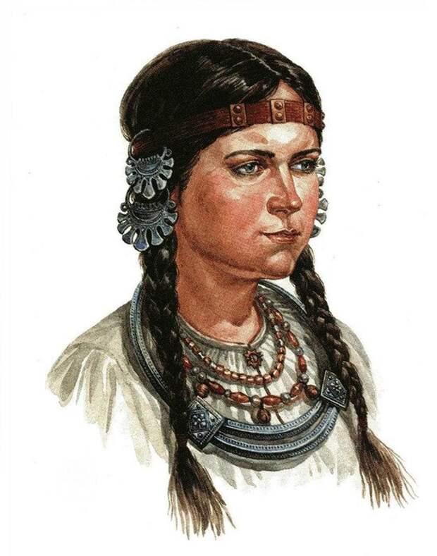 женские украшения славян Усерязь