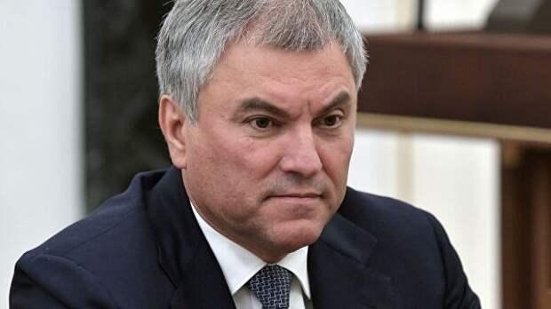 Володин предложил юридически закреплять предвыборные обещания депутатов