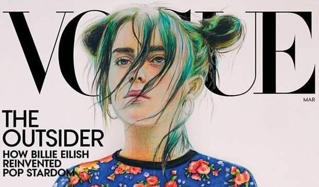 16-летняя девушка из России нарисовала обложку для американского Vogue