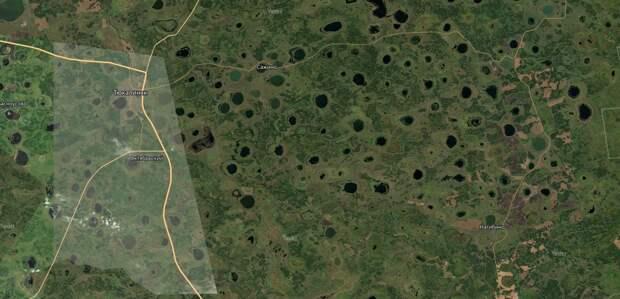 Вся территория южной части Сибири испещрена подобными воронками озерами.