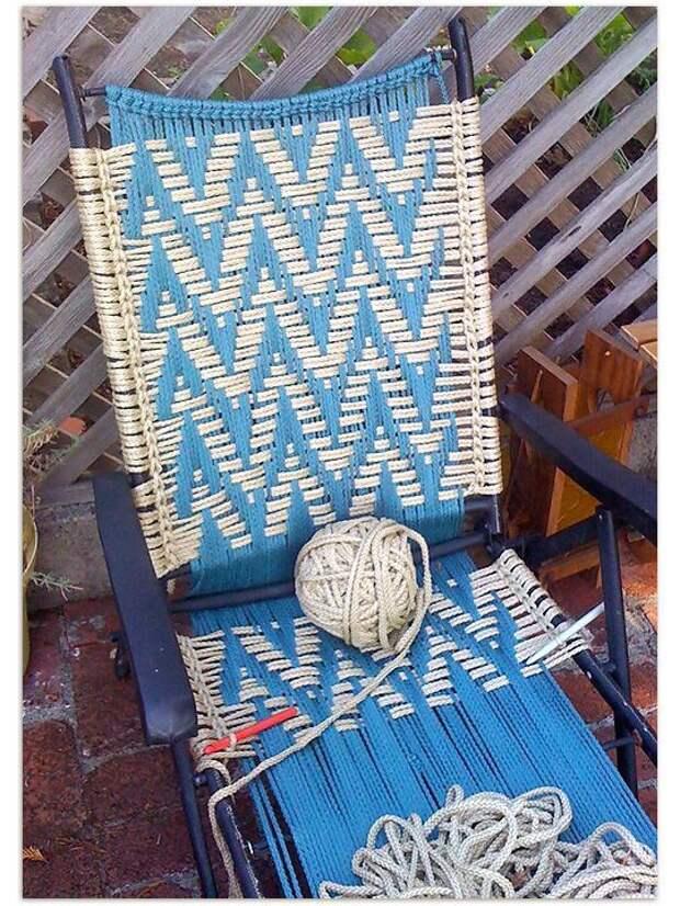 Тканные стулья (трафик, diy)