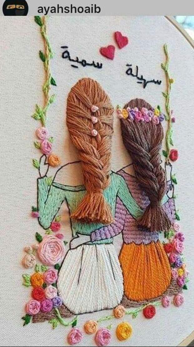Очень красивая вышивка) Идеи для творческого вдохновения.