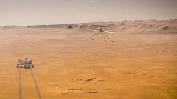 НАСА опубликовало видео первого запуска вертолета Ingenuity на Марсе