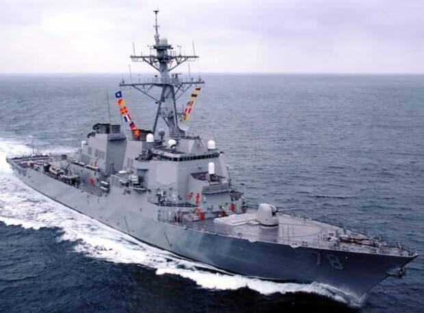 Силы Черноморского флота вытеснили два военных корабля США в воды Украины