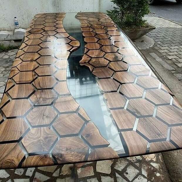 Самые красивые столы со смолой