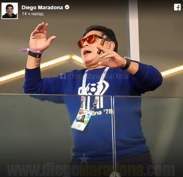 Вредная привычка Марадоны стоила ему извинений