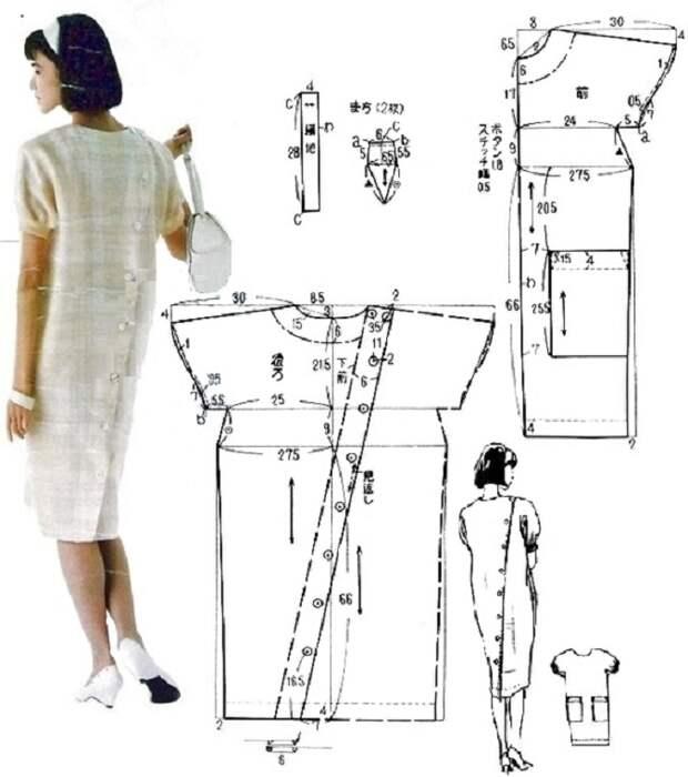 Платье с застёжкой на спине выкройка