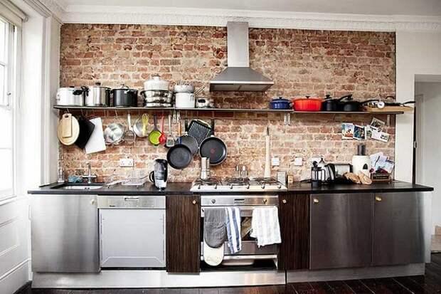 Кухня в стиле лофт-индастриал фото
