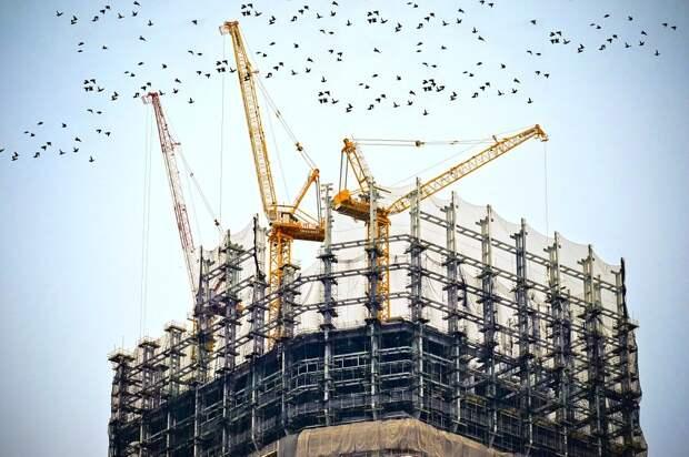 Здание, Строительство, Сайт, Краны, Архитектуры