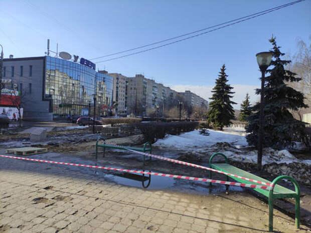 Началось благоустройство сквера напроспекте 70 лет Октября вСормовском районе