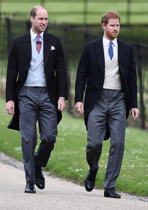 Принцы Уильям и Гарри похороны принца Филиппа